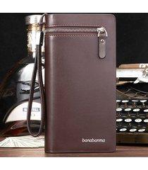 donna leisure business zipper buckle 11 card slot portafoglio multifunzione clutch phone borsa