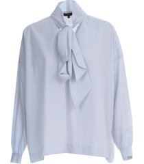 jejia checked shirt l/s w/scarf