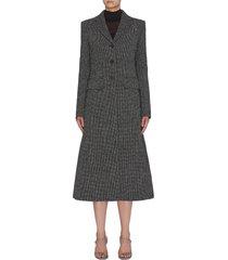 'sua' notched lapel virgin wool blend coat