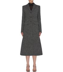 'sua' notched lapel virgin wool blend coat