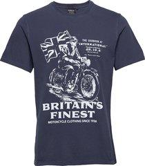 b.intl a7 edition tee t-shirts short-sleeved blå barbour