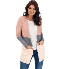only womens queen colourblock cardigan size 16 in pink