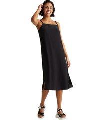vestido con tirantes lenzing ecovero negro esprit