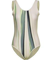 lola strap swimsuit baddräkt badkläder multi/mönstrad röhnisch