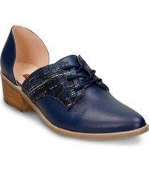 zapatos de cordon  azul  bata valene r mujer