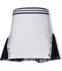lapin house mesh-panelled skirt - white