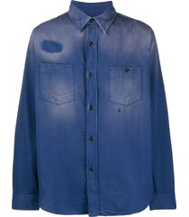 levi's vintage clothing 1950s work shirt - blue