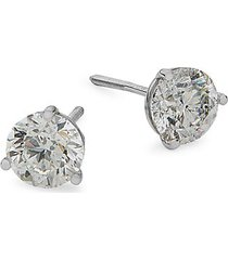 14 white gold diamond stud earrings