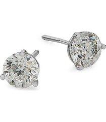 14 white gold diamond stud earrings