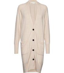 irisiw long cardigan gebreide trui cardigan beige inwear