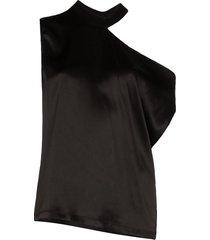 rta axel one-shoulder blouse - black