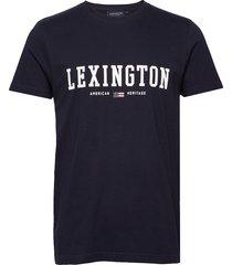 justin tee t-shirts short-sleeved blå lexington clothing