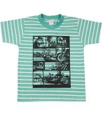 camiseta ano zero malha listrada cool motos verde