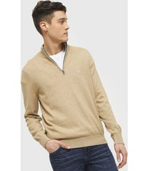 sweater nautica beige - calce regular