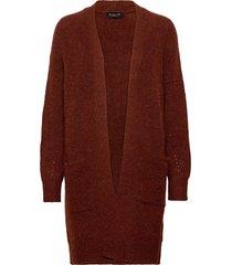 slflulu ls knit long cardigan noos gebreide trui cardigan rood selected femme