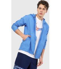 chaqueta azul nike essential