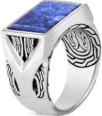 'asli classic chain' sodalite silver signet ring