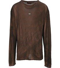 424 striped long sleeve t-shirt