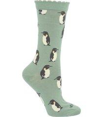 calcetín bambú penguin verde rockford