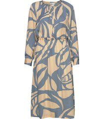 mala ls midi dress jurk knielengte multi/patroon second female