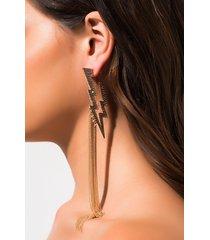 akira click flash long chain link fringe earring