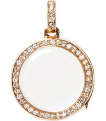 diamond sapphire 14k yellow gold pastel round locket 18mm