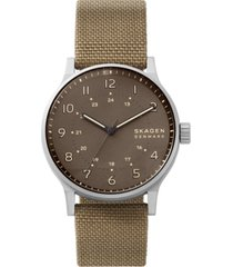 skagen men's norre khaki cordura nato strap watch 42mm