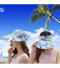 sombrero para mujer, femenino marea verano gran sol-azul