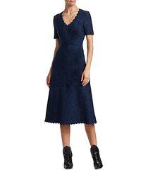 moonlight scallop-trim a-line dress