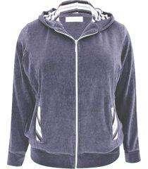 casaco pau a pique básico plush azul