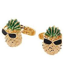 jos. a. bank gold pineapples & sunglasses cufflinks