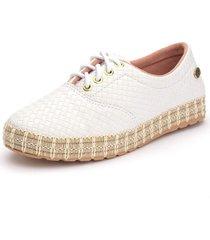tãªnis sapatãªnis casual  ousy shoes   fã¡cil calce branco - branco - feminino - couro sintã©tico - dafiti