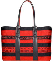 christian louboutin cabata small tote in black canvas