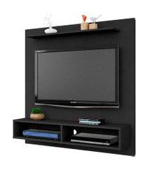 painel gama p/ tvs de até 47 polegadas preto fosco móveis bechara