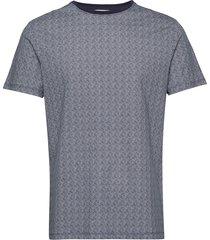 aop tee s/s t-shirts short-sleeved blå lindbergh