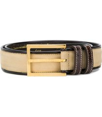 gianfranco ferré pre-owned 1990's archive belt - brown and beige