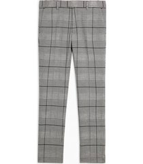 mens black and white big check pants