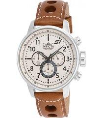reloj invicta marrón claro modelo 160gn para hombres, colección s1 rally