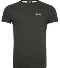 ol vintage emb tee t-shirts short-sleeved grön superdry
