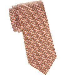 sea creature-print silk tie