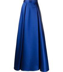 alberta ferretti royal blue a-line maxi skirt