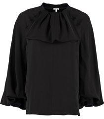loewe lavaliere ruffled silk blouse