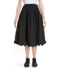 women's cecilie bahnsen kasumi seersucker skirt, size 2 us - black