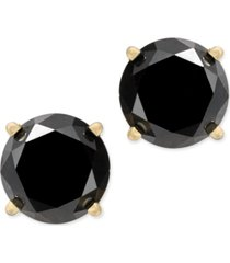 black diamond stud earrings (2 ct. t.w.) 14k white or yellow gold