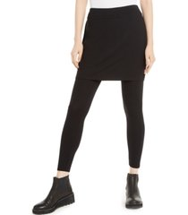 eileen fisher stretch jersey knit skirted leggings, regular & petite, created for macy's