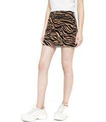 falda cargo animal print terracota five