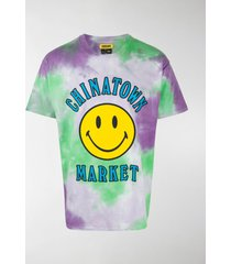 chinatown market tie-dye smiley t-shirt