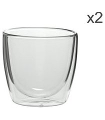 jogo de xícaras de chá fineline 200 ml 2 peças - home style