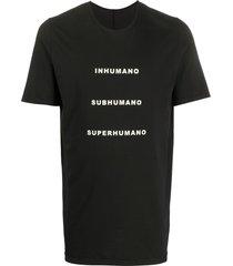 rick owens drkshdw superhumano print mid-length t-shirt - black