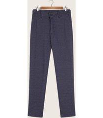 pantalón chino slim en punto unicolor-30
